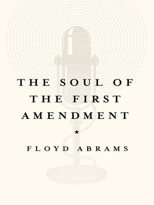 cover image of The Soul of the First Amendment