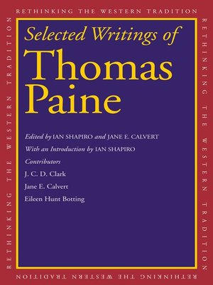 cover image of Selected Writings of Thomas Paine