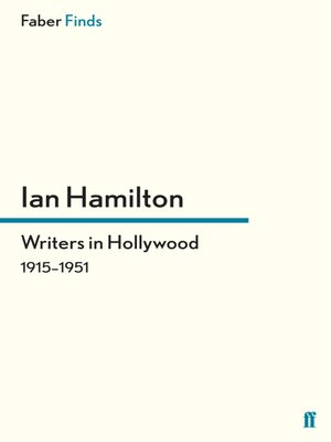 cover image of Writers in Hollywood 1915-1951