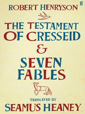 cover image of The Testament of Cresseid & Seven Fables