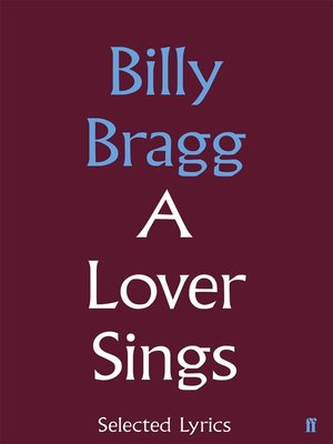 cover image of A Lover Sings