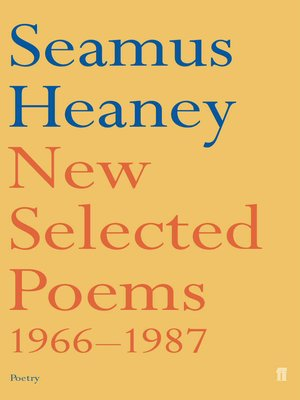 cover image of New and Selected Poems
