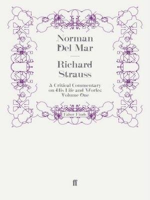 cover image of Richard Strauss, Volume I