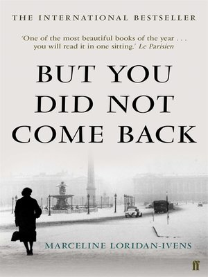cover image of But You Did Not Come Back