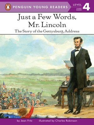 cover image of Just a Few Words, Mr. Lincoln