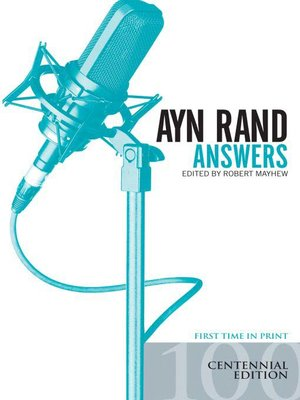 cover image of Ayn Rand Answers