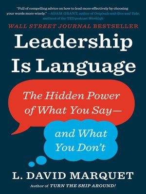 cover image of Leadership Is Language