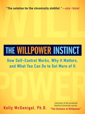 cover image of The Willpower Instinct