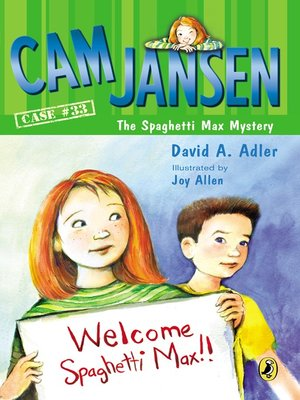 cover image of Cam Jansen and the Spaghetti Max Mystery
