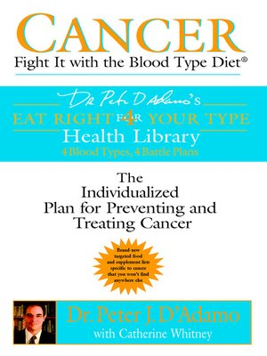 cover image of Cancer: Fight It with the Blood Type Diet