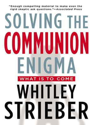 cover image of Solving the Communion Enigma