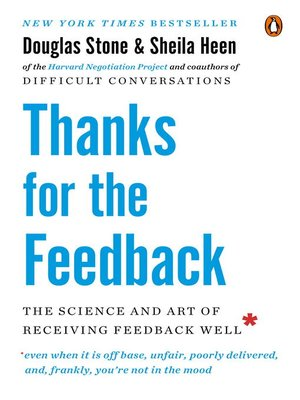 cover image of Thanks for the Feedback