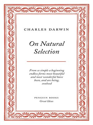 cover image of On Natural Selection