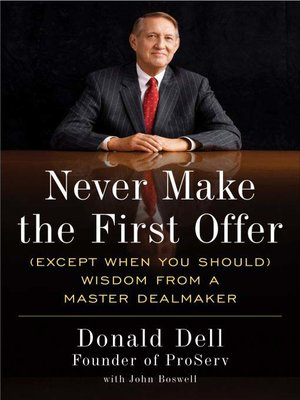 cover image of Never Make the First Offer