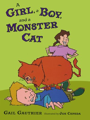 cover image of A Girl, a Boy, and a Monster Cat