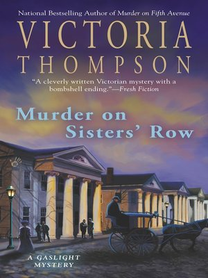 cover image of Murder on Sisters' Row