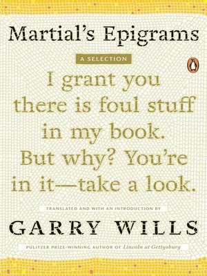 cover image of Martial's Epigrams
