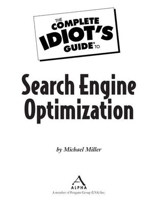 cover image of The Complete Idiot's Guide to Search Engine Optimization