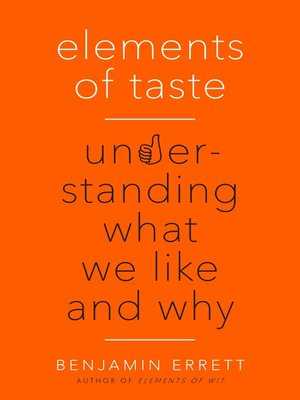 cover image of Elements of Taste