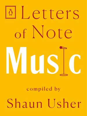 cover image of Letters of Note--Music