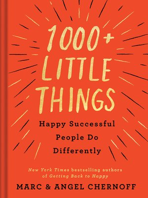 cover image of 1000+ Little Things Happy Successful People Do Differently