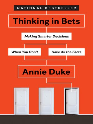 cover image of Thinking in Bets