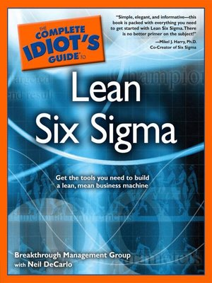 cover image of The Complete Idiot's Guide to Lean Six Sigma