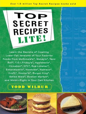 cover image of Top Secret Recipes Lite!