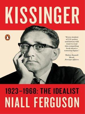 cover image of Kissinger, Volume 1