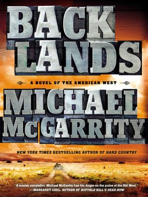 cover image of Backlands--A Novel of the American West