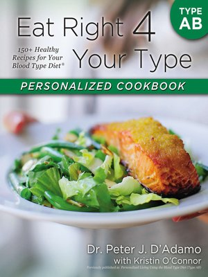 cover image of Eat Right 4 Your Type Personalized Cookbook Type AB