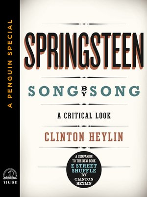 cover image of Springsteen Song by Song