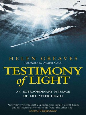 cover image of Testimony of Light