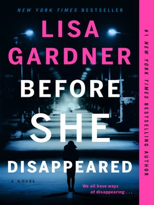 cover image of Before She Disappeared--A Novel
