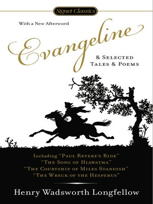 cover image of Evangeline and Selected Tales and Poems