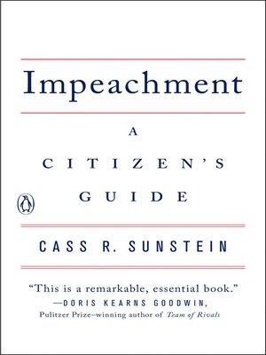 cover image of Impeachment