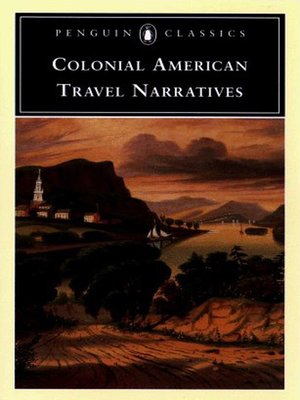 cover image of Colonial American Travel Narratives