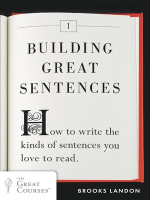 cover image of Building Great Sentences