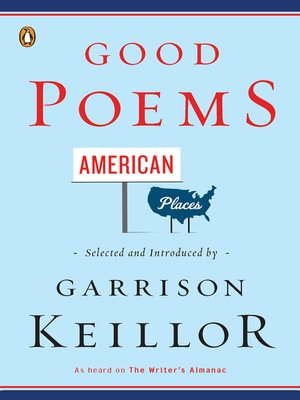 cover image of Good Poems, American Places