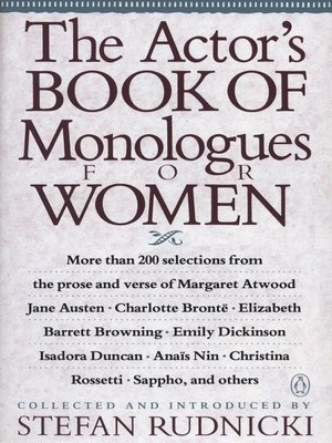 cover image of The Actor's Book of Monologues for Women