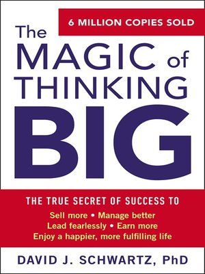 cover image of The Magic of Thinking Big