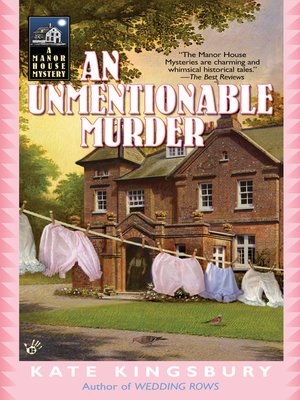 cover image of An Unmentionable Murder