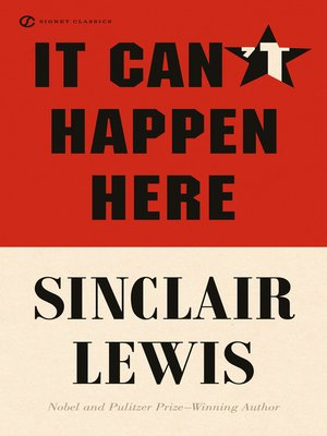 cover image of It Can't Happen Here