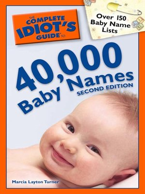 cover image of The Complete Idiot's Guide to 40,000 Baby Names