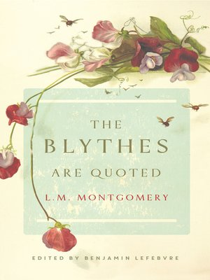 cover image of The Blythes are Quoted