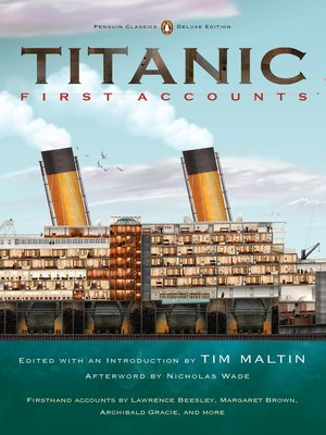 cover image of Titanic, First Accounts