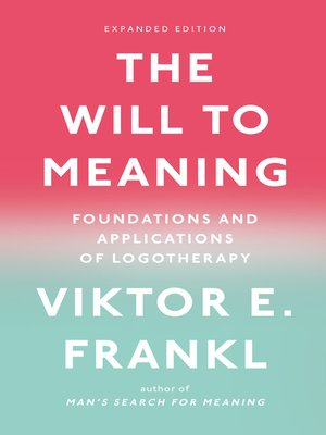 cover image of The Will to Meaning
