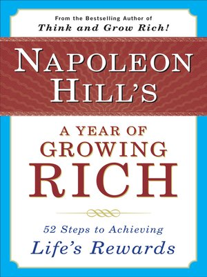 cover image of Napoleon Hill's a Year of Growing Rich