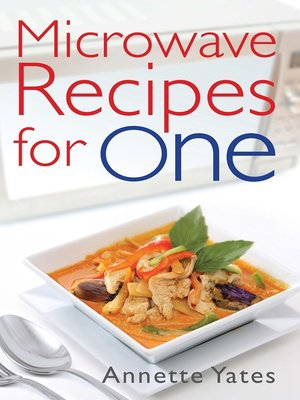 cover image of Microwave Recipes for One
