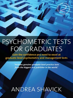 cover image of Psychometric Tests for Graduates